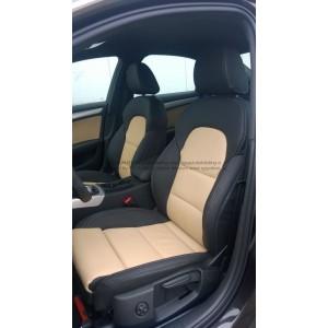 Audi A4 2008-2015 kleur 000 zwart met 080 Cremebeige sportstoel VOORRAADOPRUIMING